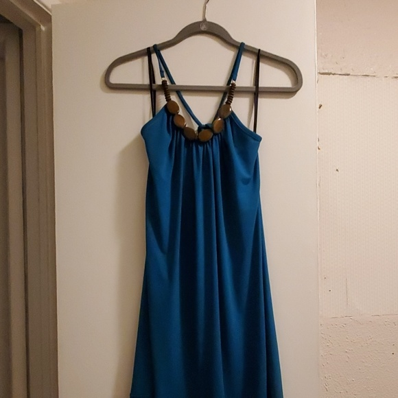 BCX Dresses & Skirts - Teal Halter Style Dress